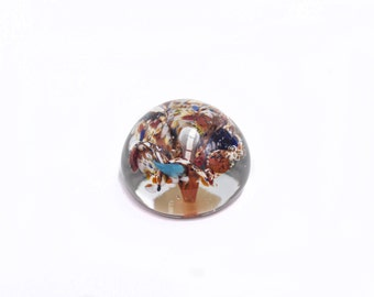 50 % OFF (Until July 13) Glass paperweight. Chekograf Krisval Sonoro