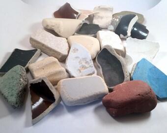 Beach Pottery Sea Pottery Fountain Stones Aquarium Supplies Garden Decor Photography Props Lake Erie Eco Freindly