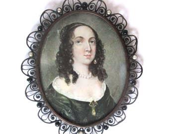 Georgian Miniature Portrait of a Lady