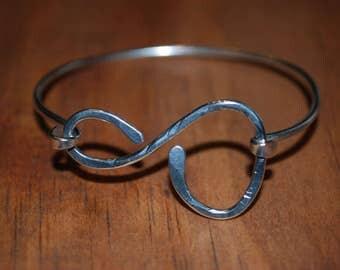 Textured Sterling Clip Bracelet