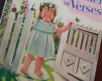 Robert Lewis Stevenson Collectable Retro A Little Golden Book 'A Child's Garden of Verses' 1957 1984