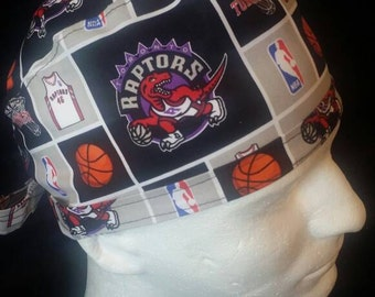 Toronto Raptors NBA Basketball  Tie Back Surgical Scrub Hat