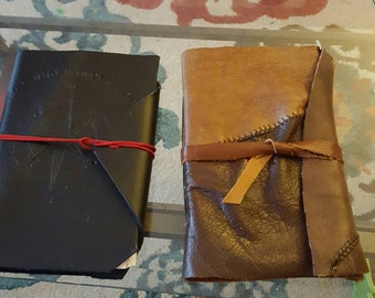 Custom leather journal 9x6 ""