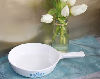 Pyrosil Cornflower Blue Saucepan.  Made In The Netherlands. Kitchen Collectable Blue and White Theme