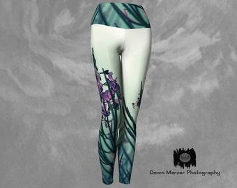 Floral Leggings Printed Yoga Leggings Unique Art Leggings Floral Print Tights Workout Leggings Tight Leggings Tight Yoga Pants Floral Print