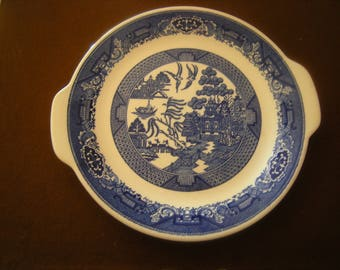 vtge blue willow platter-willow ware-royal china-kitchen and dining-dinig table-serving platter-blue willow collection-