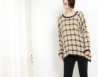 thin windowpane sweater