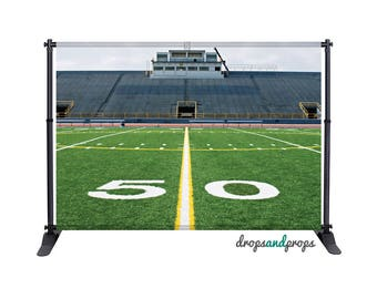 Football Field - Photography Backdrop