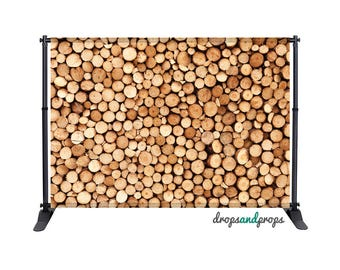 Wood Logs - Photography Backdrop