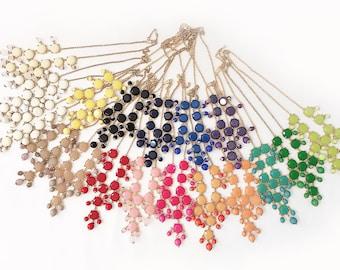 16mm GOLD MINIbubblefaceted Necklace - MINI FACETED bubble necklace, statement necklace, bridal party necklace, kids girls necklace