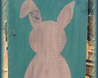 Handmade Bunny Sign