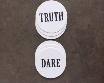 Coaster- Letterpress, Truth or Dare
