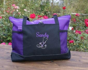 Personalized Nursing tote bag ,graduation gift, honor and appreciation gift medical work bag, nursing student book bag
