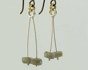 Labradorite hypoallergenic earrings.