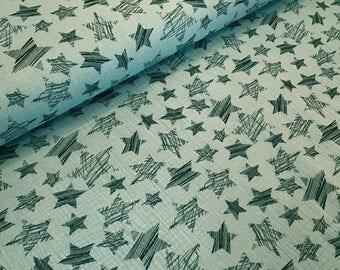 Muslin wild stars Green
