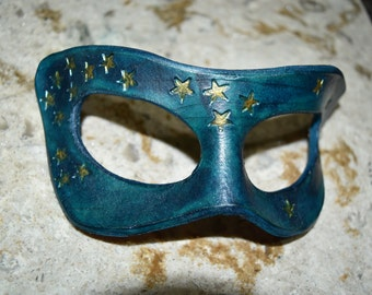 Clearance for old stock - Leather star mask - pictured one available now