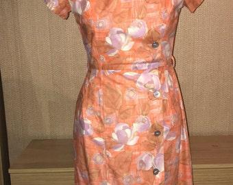 Vintage 1950s coral Dress