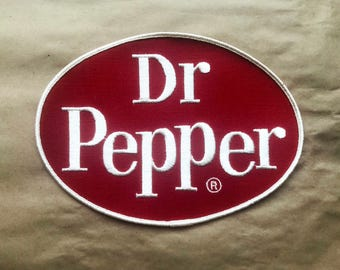 Large Dr. Pepper Patch - Sew On, Soft Drink, Memorabilia