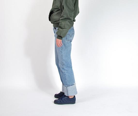 SALE - 90s Levi's 501 Blue Denim Baggy Tomboy Street Style Jeans / Size W33 L34