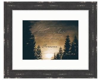 Glorify His Name - Bible Verse Art - Psalm 86