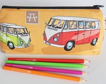 Camper Vans Pencil Pencil Case with Washable Lining