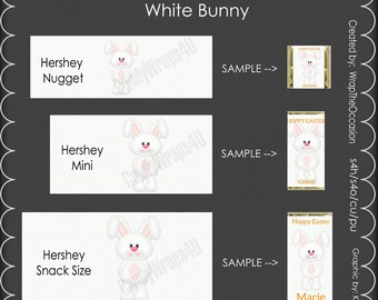 White Bunny - Candy Bar Wrappers