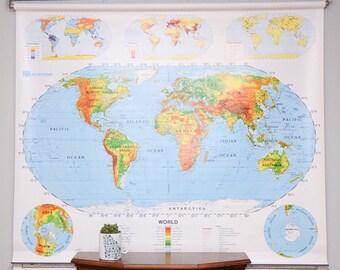 Vintage Schoolhouse Maps (World/US)