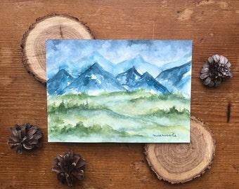 Little Mountain Scene - Original Watercolor Painting