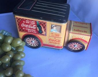 L018 1990's Tin Coca Cola Delivery Truck