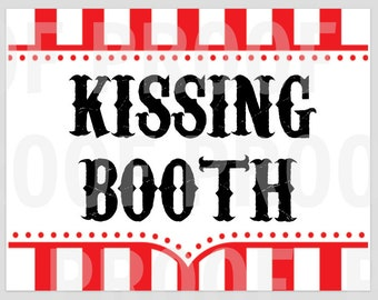 Carnival Kissing Booth Sign (Digital)