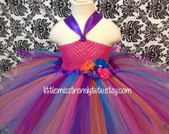 Rainbow Tutu Dress, Bubble Guppies Tutu Dress, Colorful Tutu Dress, Girls Tutu Dress, Pink Purple Tutu Dress, Birthday Tutu Dress
