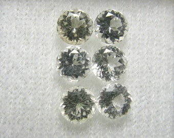 6x Gem Phenacite Phenakite Facetted Cut Stones From Russia - 1.95 tccw