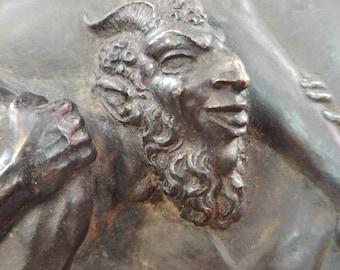 Magnificent 19th c. Bronze Mythological Erotic Plaque after Claude Michel Clodion