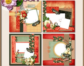 Digital Scrapbooking, Quick Page Set II  8 inch Layouts: Just Watch Me