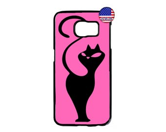 Cats Kitten Animal in Pink Hard Rubber TPU Case Cover For Samsung Galaxy S8 S7 S6 Edge Plus S5 S4 S3 NOTE 5 4 3 2 iPod Touch 4 5 6