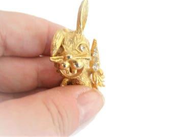 Vintage Bunny Brooch / Pin / Easter Brooch / Pin / Rabbit Brooch / Pin / Easter Jewelry / Gold Bunny Brooch / Pin / Rabbit Brooch / Pin