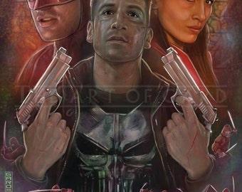 Daredevil Season 2, High Quality Art Print