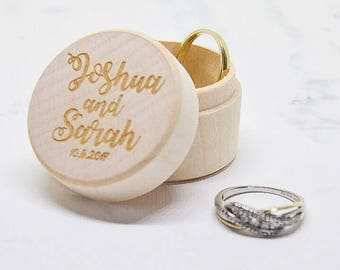 Wedding Ring Box - Ring Bearer Box - Engagement Ring Box - Rustic Ring Box - Proposal Ring Box - Personalized Ring Holder - Ring Holder