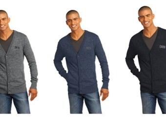 Men's Monogrammed Cardigan