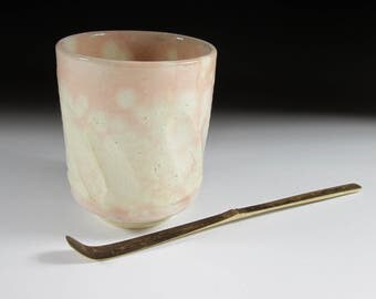 Vintage Gohonte Hagi-ware Yunomi Tea Cup, Koedo