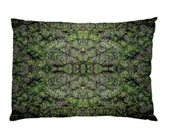 Standard Pillow Case: Ganja Pillow Case in Tangerine Dream Marijuana Print, Bed Pillow Case, Cannabis Pillow Case- MADE TO ORDER