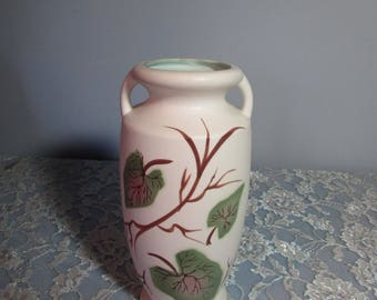 Lefton Exclusives Vase Made in Japan – White Double Handled Vase – Handmade Hand Painted
