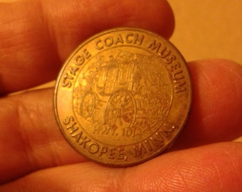 Gun & Stage couch Museums coin-token