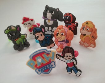 Paw Patrol Rings Party Favors Cupcake Toppers 9 Pieces