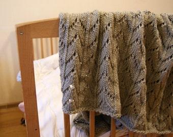 Nursery Bedding, Hand knit Blanket, knit baby blanket, nursery bedding girl, nursery bedding boy, newborn blanket knit, pram blanket
