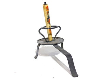 Antique Iron Candle Stick - FREE SHIPPING
