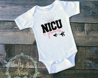 NICU Princess- Baby Bodysuit- NICU Baby- Premie Baby Shirt- Princess Shirt