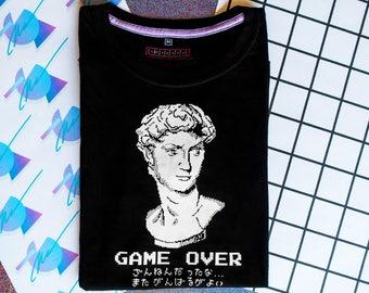 Ultra Vaporwave Game Over shirt