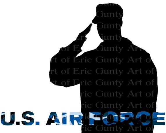 U.S. Air Force Military Birthday - Edible Cake and Cupcake Topper For Birthday's and Parties! - D21932