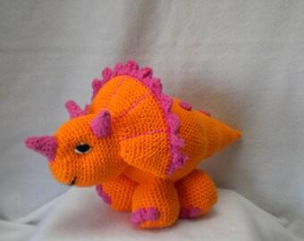 Crochet Triceratops Dinosaur doll/toy
